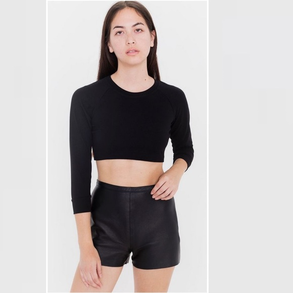American Apparel Pants - American Apparel Leather Tap Shorts